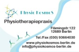business card - Physio Kosmos - FRONT SIDE