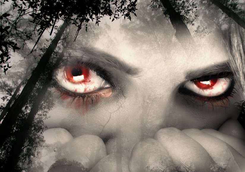 The red eyes